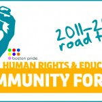 Boston Pride's Human Rights Road Tour parks in Northampton