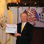 Governor Lincoln Chafee on World AIDS Day  Photo: RI General Assembly, Governor Chafee Staff