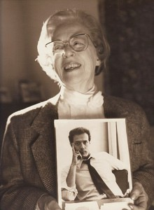 Jeanne Manford in 1993, holding a photo of her son  Morty Mandord.  Photo: PFLAG