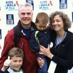 Clare Reilly, with her husband and two sons at last year's AIDS Walk & 5K Run  Photo: AIDS Action Committee
