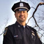 Boston Police Department, BPD, openly gay GLBT Liaison/Community Service Officer Javier A. Pagán was working at the finish line of the Boston Marathon on April 15th, when the unthinkable happened.  Photo: Sean Sullivan/TRT