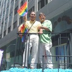 Caption: David Bermudez (right) with spouse Bob Isadore  Photo: S.V.A. Official Photographer Hal Weiner