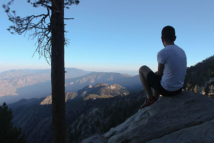 Taking in the amazing views from the trails at Mt. San Jacinto State Park, reached via the Palm Springs Aerial Tramway. Photo: Andrew Collins