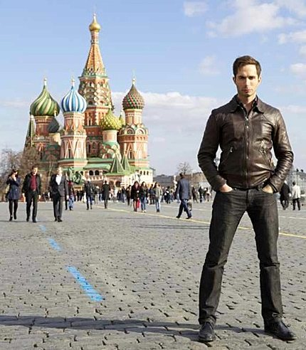 Michael Lucas in Russia  Photo: Lucas Ent
