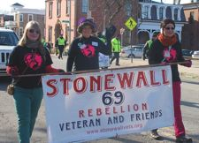 Stonewall Rebellion Veteran and Friends, with Erica Jay-Webster, in the middle.  Photo: Chuck Colbert