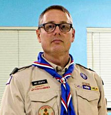 Geoff McGrath, leader of Troop 98 in Seattle's Rainier Beach neighborhood  Photo: YouTube