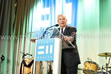 Former Boston Mayor Thomas M. Menino during his acceptance speech, as a recipient of the Congressman Gerry E. Studds Award.  Photo: Alex Mancini/TRT