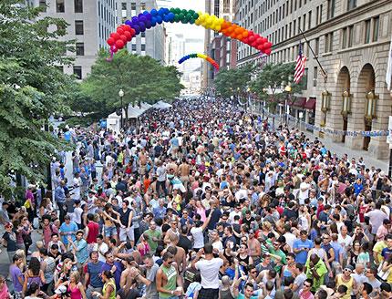 A former Boston Pride Back Bay Party in action.  Photo: Boston Pride